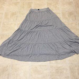 H&M gray maxi skirt